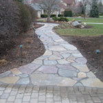 Columbus Ohio Flagstone Patio and Walkway Landscaping